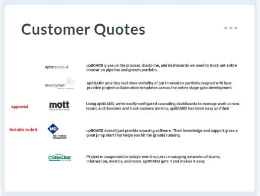 Customer Testimonial & Quote Database
