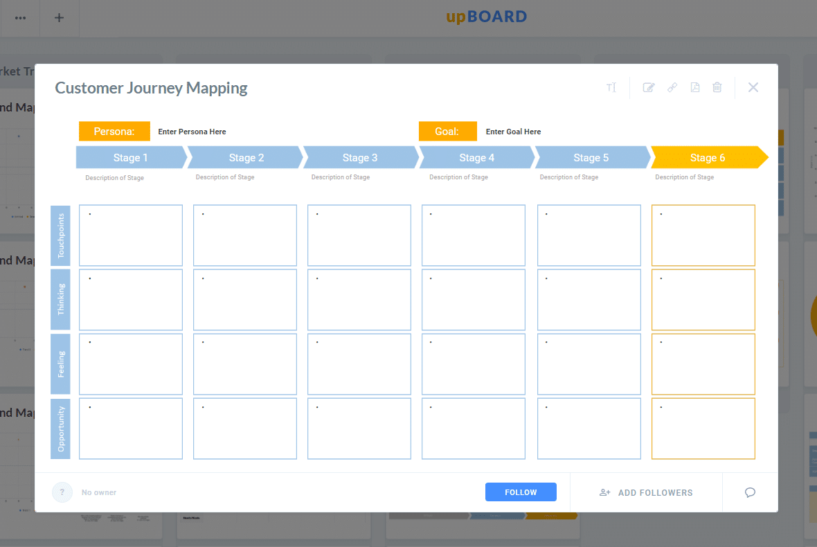 Customer Journey Mapping Online Template