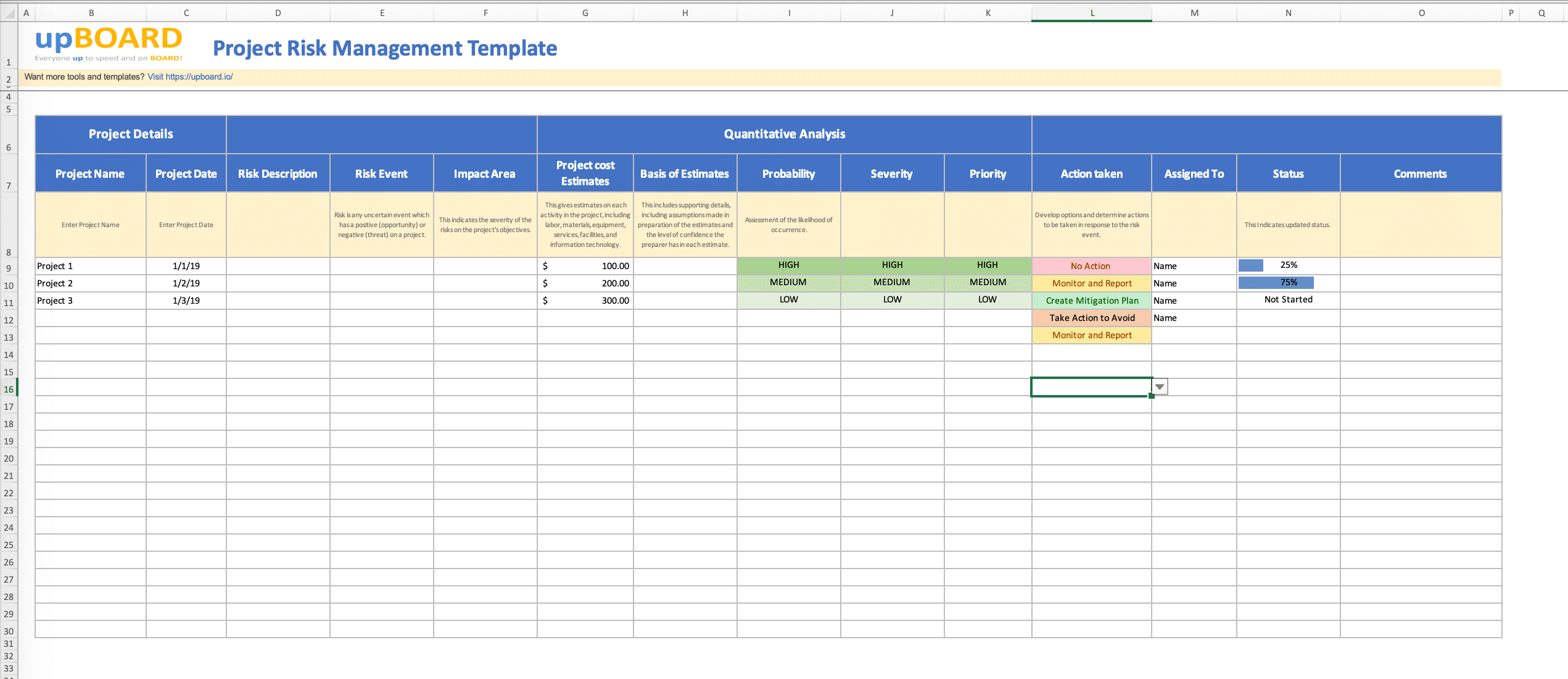 Project Risk Management Template - Free Excel Tool