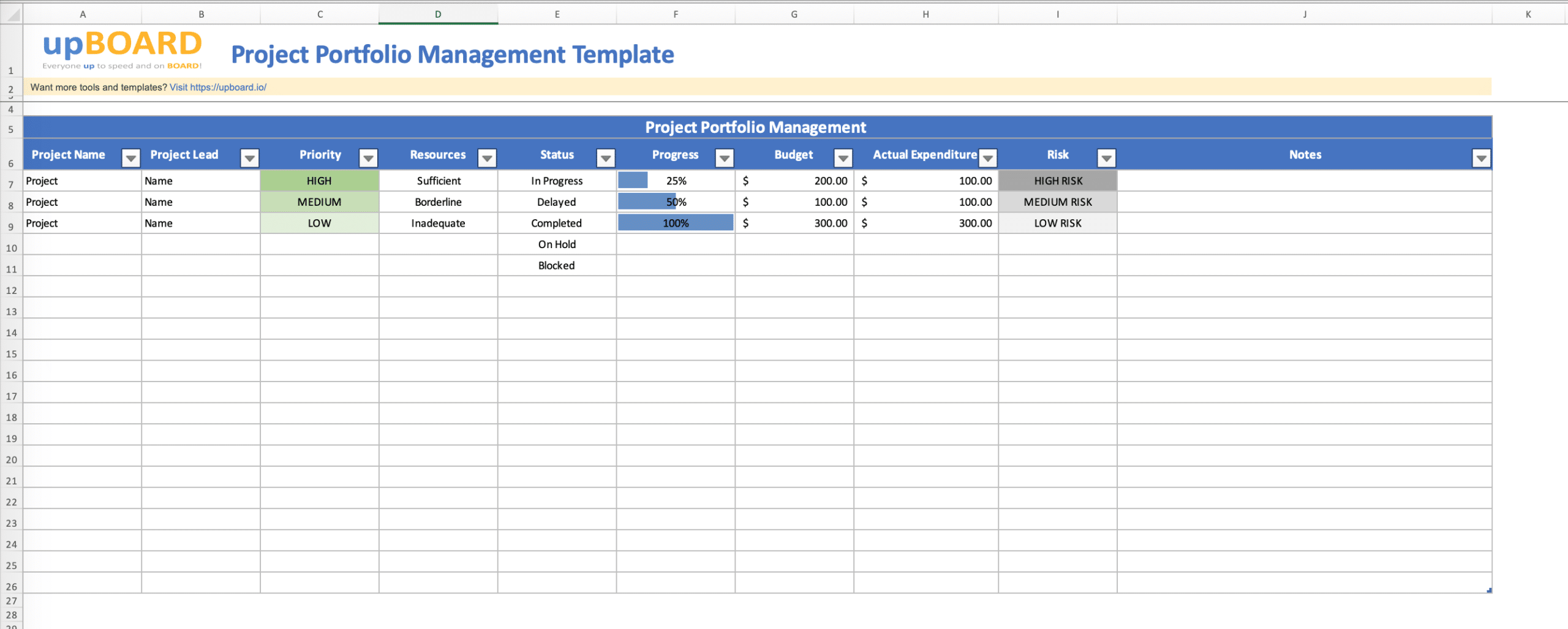 Event Chain Metholology - Free Excel Tool